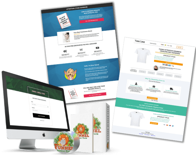 Lead generation funnel, ecommerce funnel, sales funnel, funnel template